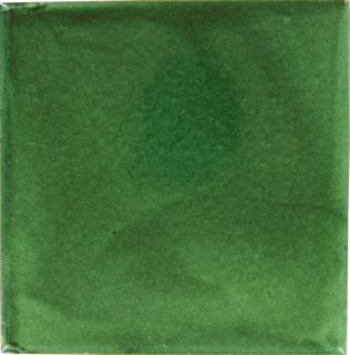 Handmade Tierra y Fuego Ceramic Tile, Verde Hoja, Set of 9 - Mediterraneo - P...