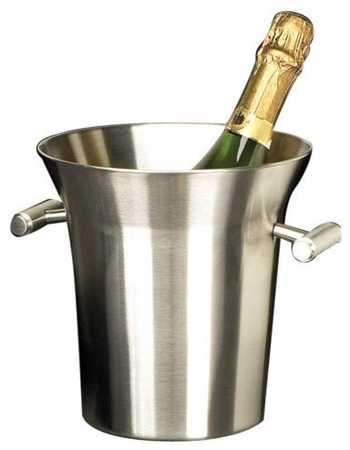 Stainless Steel Ice Bucket/Cooler - Contemporary - Wine And Bar Tools ...