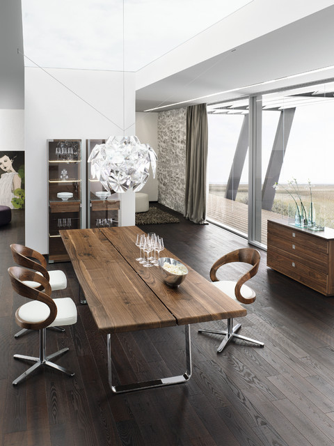Nox walnut modern dining table modern dining tables for Modern kitchen table