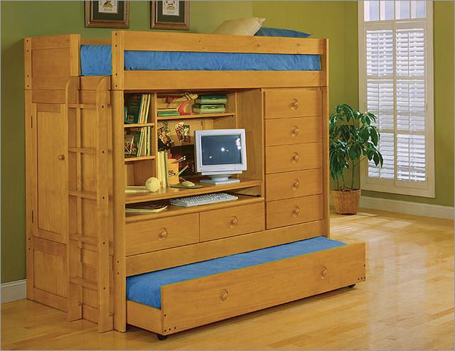 tradewins mountain river computer bunk bed 1