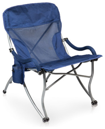 Extra Wide Camp Chair Navy Modern Outdoor Folding