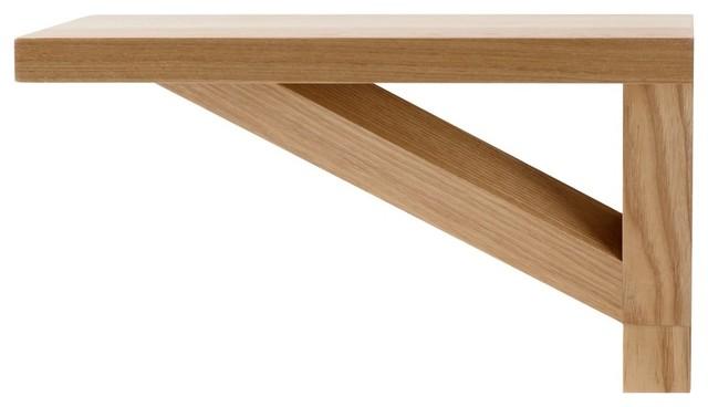Stack wandregal massivholz eiche 2er set 28 x 17 x 17 cm bauhaus look wandregale von - Wandregal bauhaus ...
