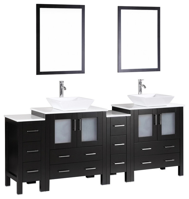 Four Bosconi Abss Double Vanity Contemporary Bathroom Vanities And Sink Consoles By Bosconi