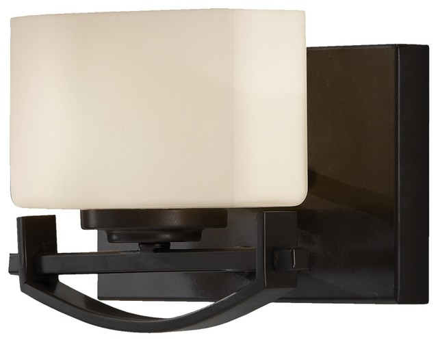 Feiss VS18201-ORB Bleeker Street 1 Light Oil Rubbed Bronze Bathroom Wall Sconce - Transitional ...