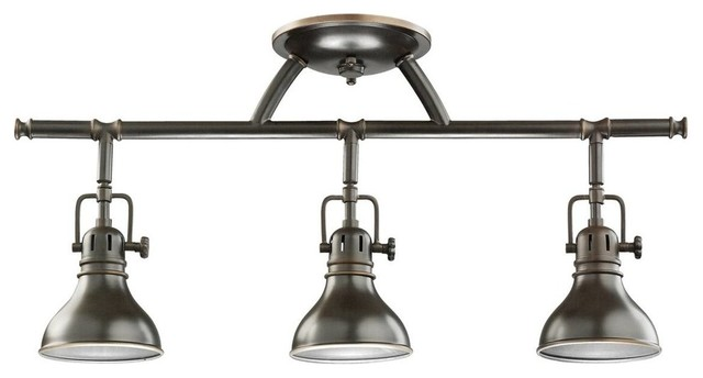 Kichler no family association 3 light track lighting in for Traditional kitchen light fixtures