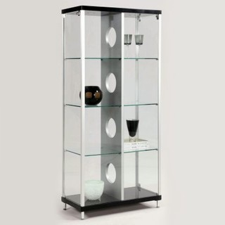 Chintaly Phoenix Modern Locking Glass Curio Cabinet - Modern ...