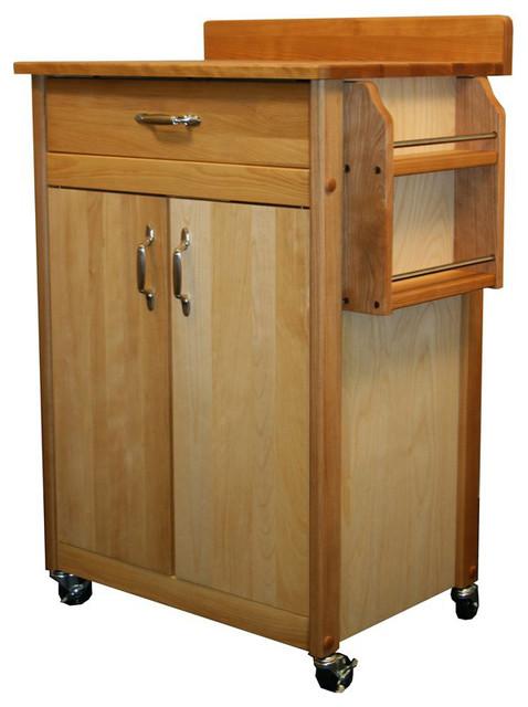 Catskill craftsmen 27 inch butcher block kitchen cart for Catskill craftsmen kitchen cabinets
