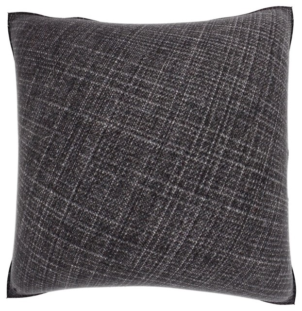 Dark Grey Weaved Texture 18-inch Velour Throw Pillow - Contemporary - Decorative Pillows - by ...