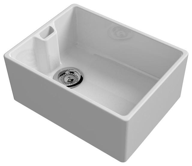 Kitchen And Utility Sinks : ... White Ceramic Belfast Kitchen Sink traditional-utility-room-sinks