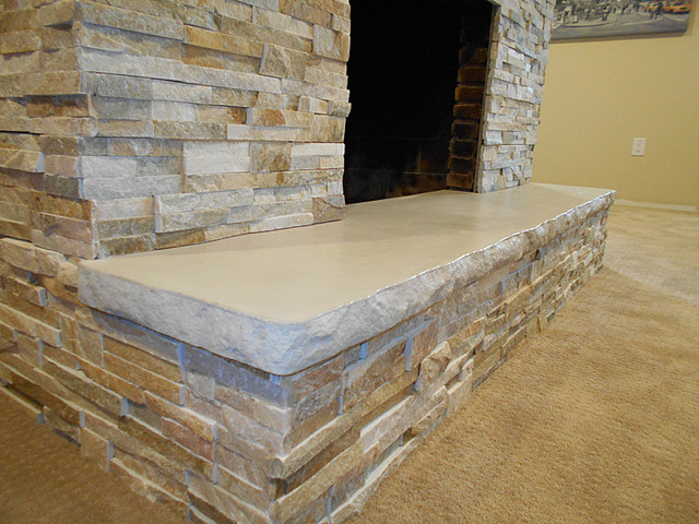 Fireplace Hearth 7 39 With Split Stone Edge Detail Indoor Fireplaces Portland By Infinite
