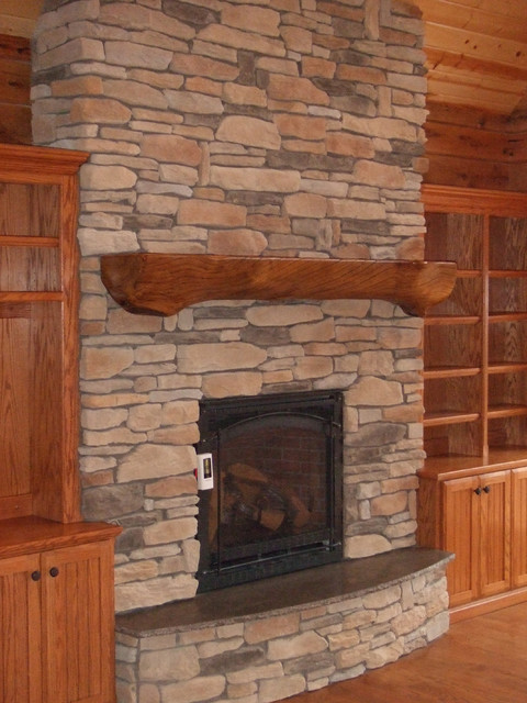 Delong residence craftsman fireplace mantels st for Craftsman fireplaces photos