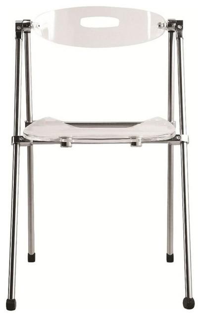 acrylic folding chair clear modern living room
