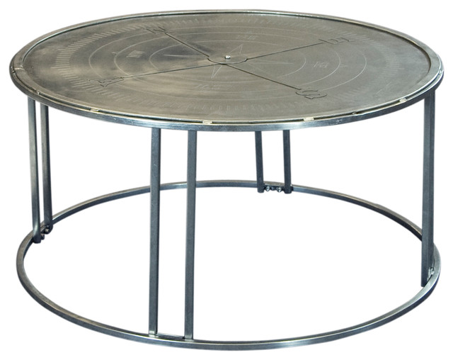 Coffee Table Satin Nickel Industrial Coffee Tables By Coast To Coast Imports Llc