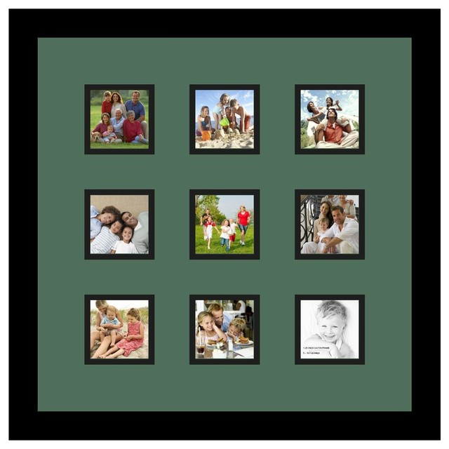 Arttoframes collage photo frame with 9 3x3 openings and for Modern collage frame
