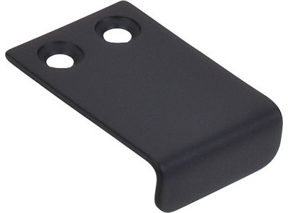 """Tab Pull 1"""" - Flat Black - Modern - Cabinet And Drawer Handle Pulls - by Knobs and Beyond"""