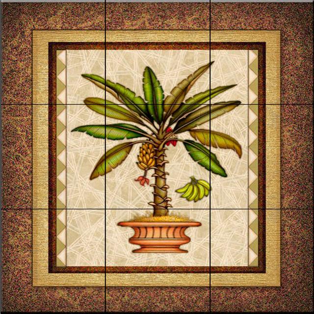 Tile Mural Palm Tree 2 Kitchen Backsplash Ideas