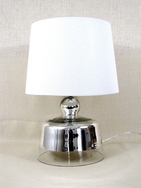 Lamp Mercury Glass To Clear Contemporary Table Lamps By White X White