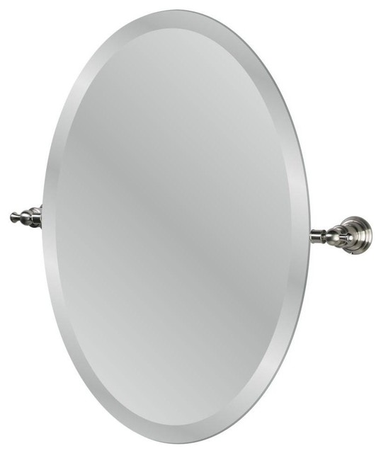 Cool ANY COLOR Brushed Nickel Bathroom Mirror Framed By RevivedVintage