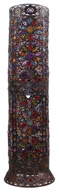 Bohemian Style Cylinder Floor Lamp with Acrylic Sunflower ...