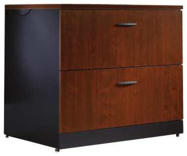 Sauder Via Lateral File in Classic Cherry - Transitional - Filing Cabinets