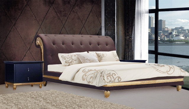 Dolciana Velvet Luxury Bed King Size Modern Beds