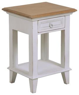 chevet blanc 1 tiroir esquisse moderne table de chevet et table de nuit par interior 39 s. Black Bedroom Furniture Sets. Home Design Ideas