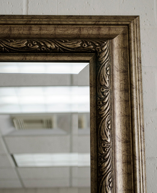 Floor mirrors with gold frame contemporary for Gold frame floor mirror
