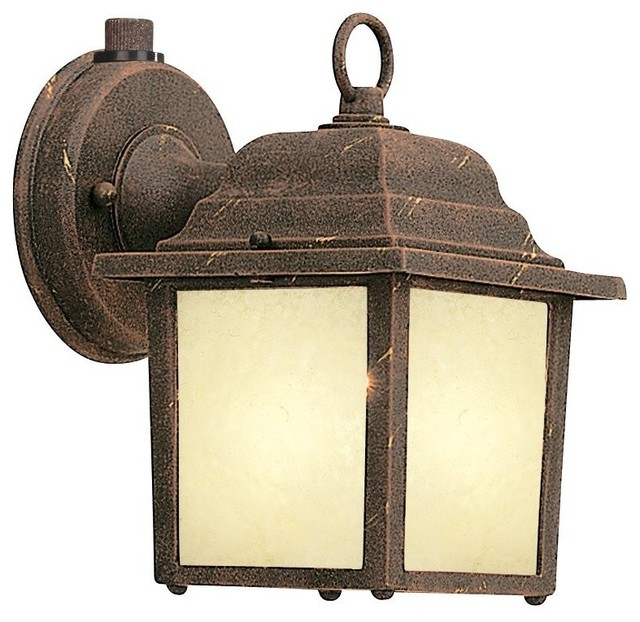 Designers Fountain Builder Cast Aluminum ES Transitional Outdoor Wall Sconce - Rustic - Outdoor ...