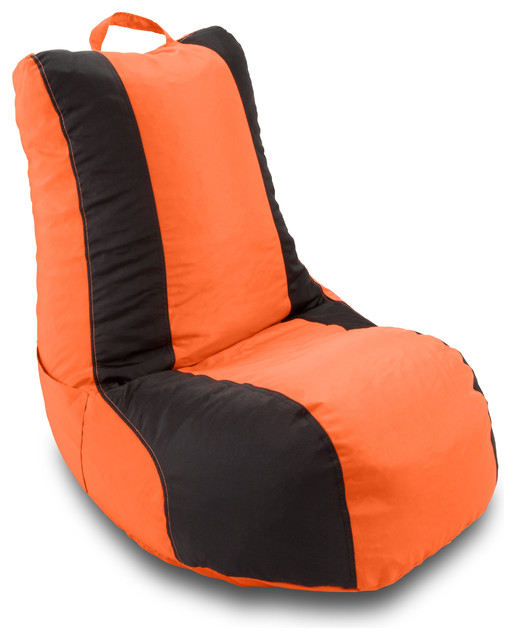 michael anthony furniture school 2 color video bag orange black contemporary bean bag chairs. Black Bedroom Furniture Sets. Home Design Ideas
