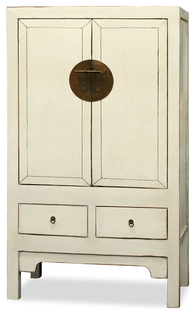 Elmwood Ming Style Armoire - Asian - Armoires And ...