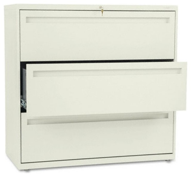 HON 700 Series 42 Inch Three Drawer Lateral File ...