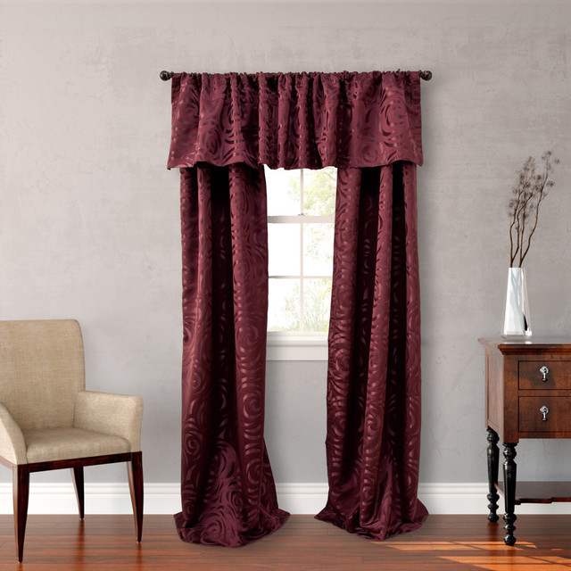 Nicole Miller Red Polyester 84-inch Madison 4-piece Lined Curtain ...