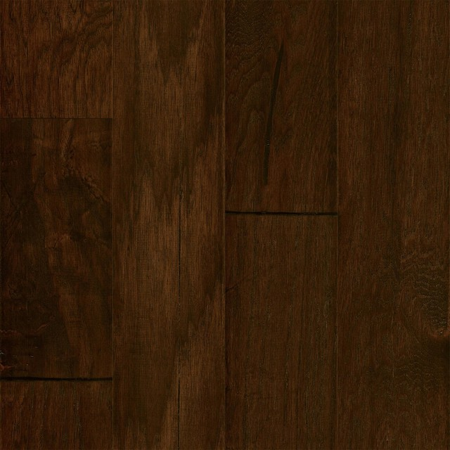 Hickory mocha mohawk brookdale 5 wide hand scraped for Mohawk hardwood flooring