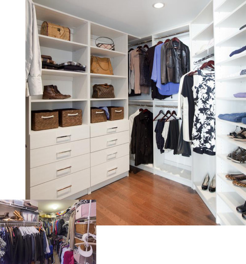 <who>Photo Credit: Contributed / Stor-X Organizing Systems</who> Even walk-in closets can benefit from custom storage solutions!