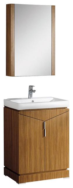 Fresca elissos wild honey oak modern bathroom vanity for Decorplanet bathroom vanities