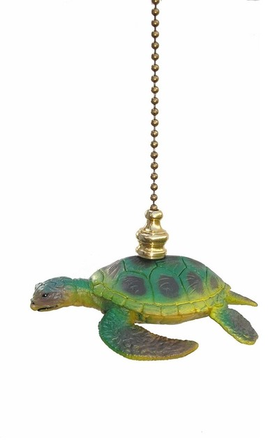Sea Turtle Fan Pull Eclectic Ceiling Fan Accessories