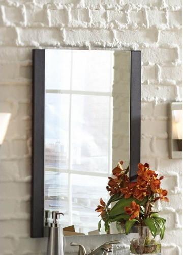 Cavanaugh Espresso Rectangular Bath Mirror Modern