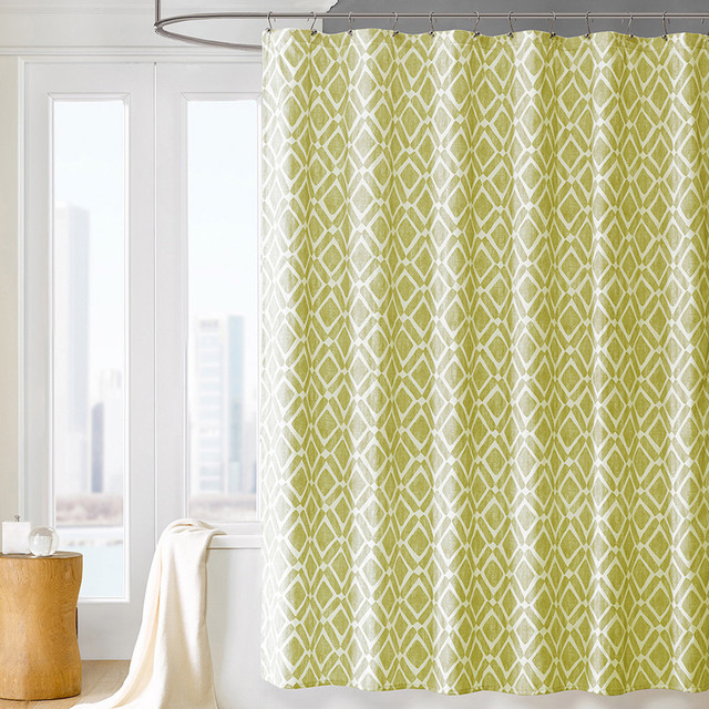 madison park ella geometric shower curtain contemporary