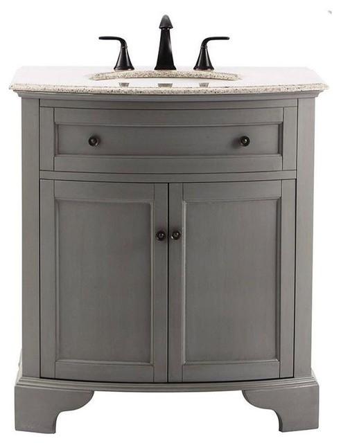 Home Decorators Collection Bathroom Hamilton 31 In Vanity In Grey With Granite Contemporary