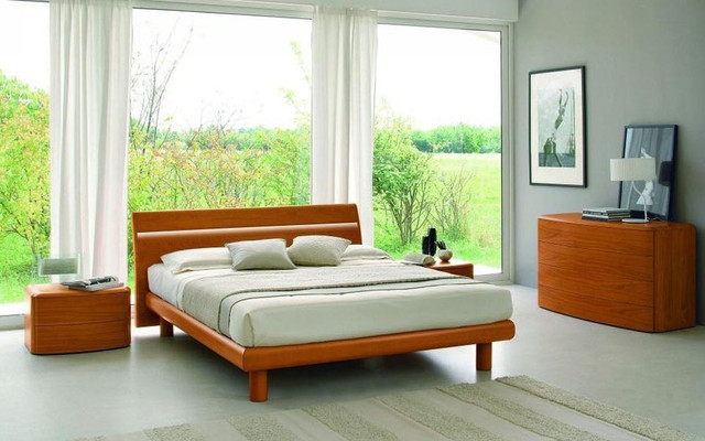 made in italy wood platform bedroom sets feat light