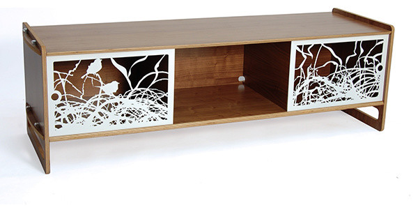 Key AV Audio/Video Storage Walnut - Contemporary - Entertainment Centers And Tv Stands - by HORNE