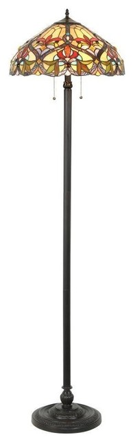 Modern Floor Lamps Overstock : Tiffany style victorian design light floor lamp contemporary lamps by overstock