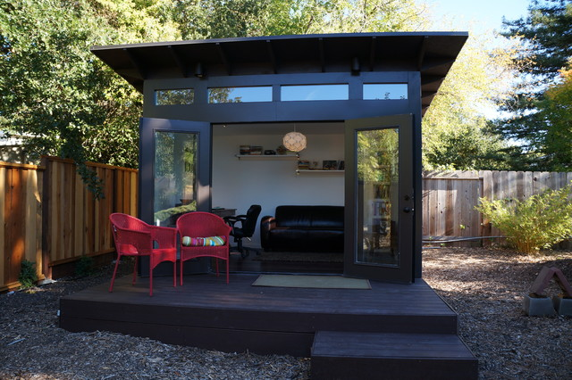 10x12 studio shed home office family room modern for Garden shed music studio