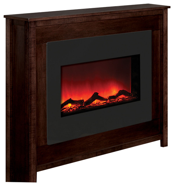 Zero Clearance Electric Fireplace Mantels Contemporary Indoor Fireplaces By Shop Chimney
