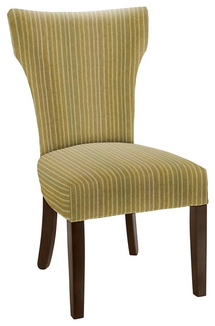Hekman woodmark brianna dining chair medium yellow green for Modern yellow dining chairs