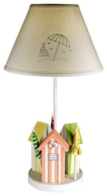 cabana 24 high table lamp with cloth shade beach style. Black Bedroom Furniture Sets. Home Design Ideas