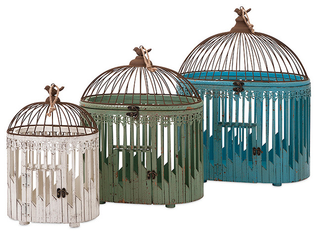 Calima Bird Wall Decor   Set Of 3 : Elaine bird houses set of farmhouse decorative