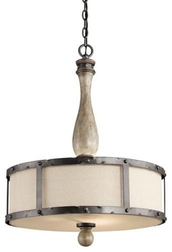 Drum Shaped Pendant Lighting : Kichler dag evan bulb indoor pendant with drum
