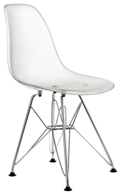 Clear Dining Chair Verne Plastic Stackable