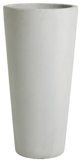Pot rond ciment 29 cm gris contemporain pot et for Pot gris exterieur